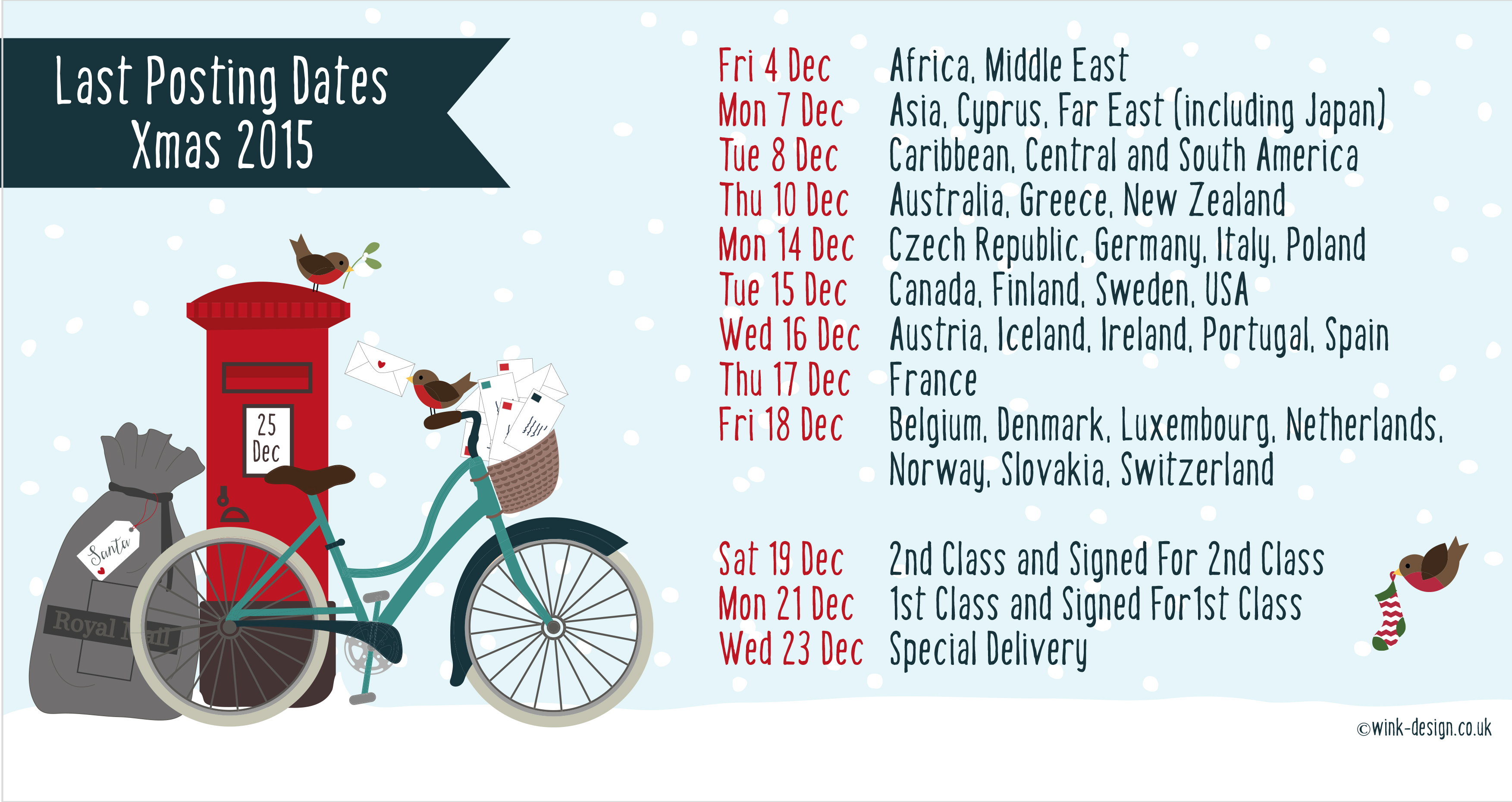 Beginning Lot Posting Dates Xmas Download Print Christmas 2015 Printable